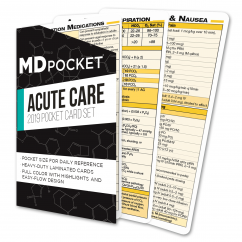 Acute & Critical Care Cards - 2019