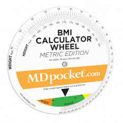 BMI Calculator Wheel - Metric Edition
