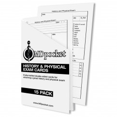 History & Physical Exam Card Pack