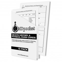 OBGYN History & Physical Exam Card Pack