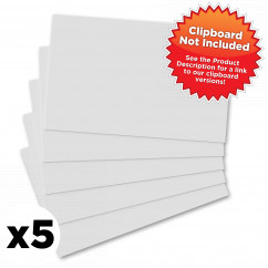 5 Pack - Horizontal 17 x 11 MDF Clipboard Notepad - Blank