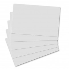 5 Pack - Horizontal 17 x 11 MDF Clipboard Notepad - Blank