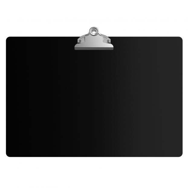 Black Aluminum 17 x11 Ledger Clipboard with Butterfly Clip