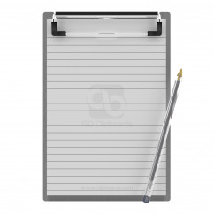 5 x 8 Aluminum Clipboard - Slightly Damaged