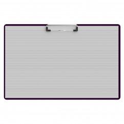 Horizontal Ledger 17 x 11 Acrylic Clipboard - Purple