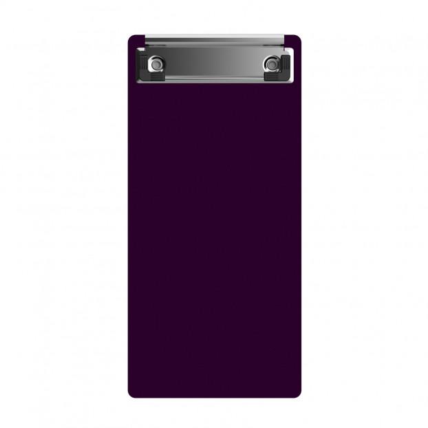 "Acrylic Server Sized 4.25"" x 9.25"" Clipboard - Purple"