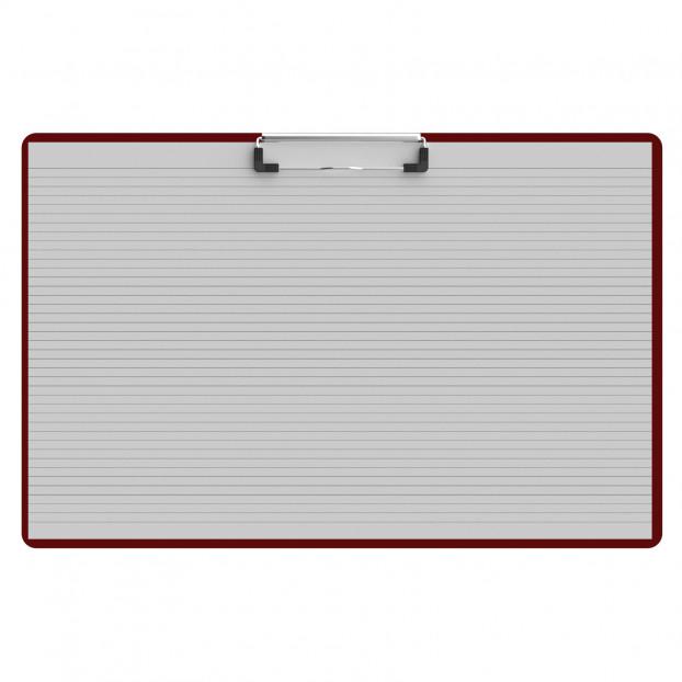 Horizontal Ledger 17 x 11 Acrylic Clipboard - Red