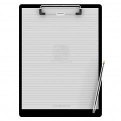 Letter Size 8.5 x 11 Aluminum Clipboard | Black