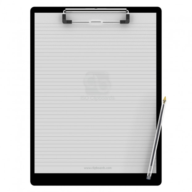 Letter Size 8.5 x 11 Aluminum Clipboard | Black Slightly Damaged