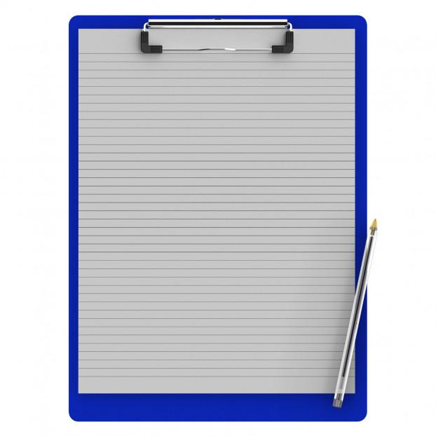 Letter Size 8.5 x 11 Aluminum Clipboard | Blue