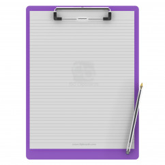 Letter Size 8.5 x 11 Aluminum Clipboard | Lilac