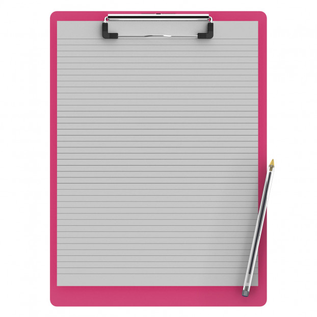 Letter Size 8.5 x 11 Aluminum Clipboard | Pink