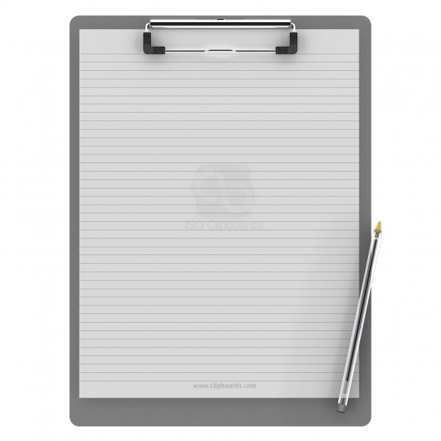 Letter Size 8.5 x 11 Aluminum Clipboard | Silver