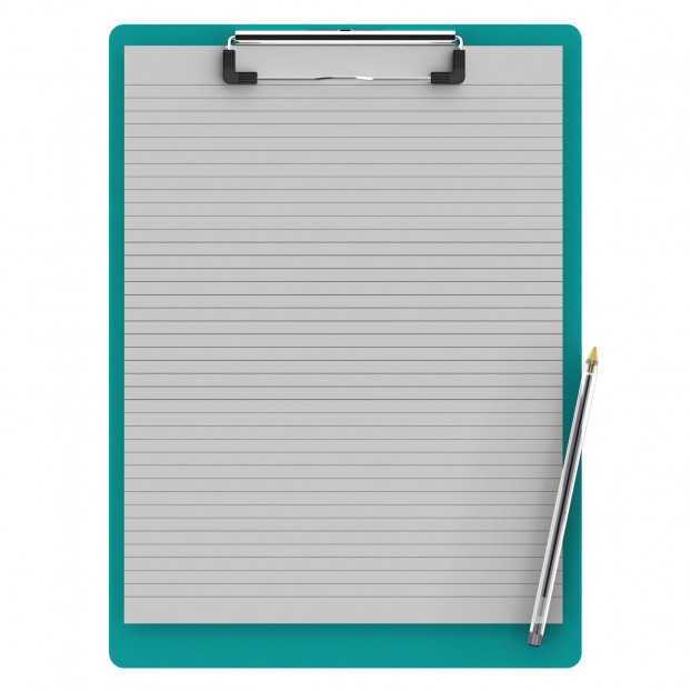 Letter Size 8.5 x 11 Aluminum Clipboard | Teal