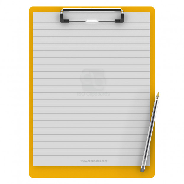 Letter Size 8.5 x 11 Aluminum Clipboard | Yellow