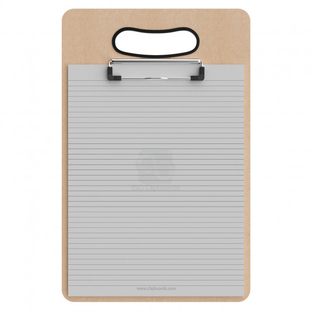 Letter Size MDF Handle Clipboard