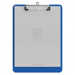 Letter Size 8.5 x 11 Plastic Clipboard | Blue