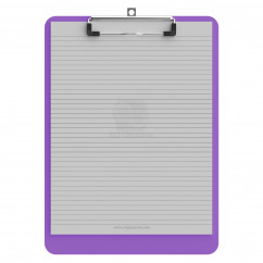 Letter Size 8.5 x 11 Plastic Clipboard | Lilac