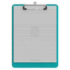 Letter Size 8.5 x 11 Plastic Clipboard | Teal
