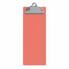 4.25 x 11 Aluminum Server Clipboard - Coral