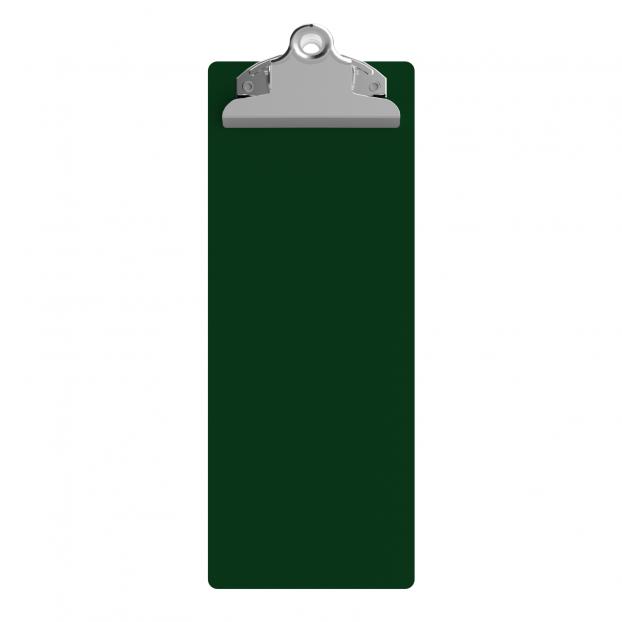 4.25 x 11 Aluminum Server Clipboard - Green