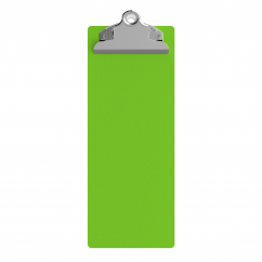 4.25 x 11 Aluminum Server Clipboard - Lime Green