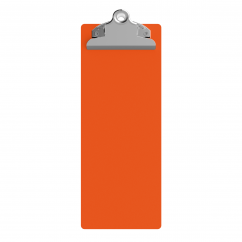 4.25 x 11 Aluminum Server Clipboard - Orange