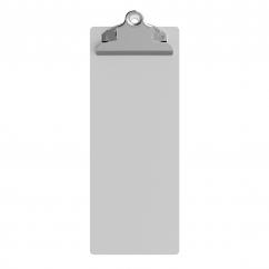 4.25 x 11 Aluminum Server Clipboard - White