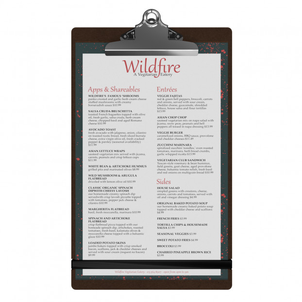Large HDF Menu Clipboard