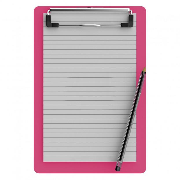 Memo Size 5 x 8 Aluminum Clipboard | Pink