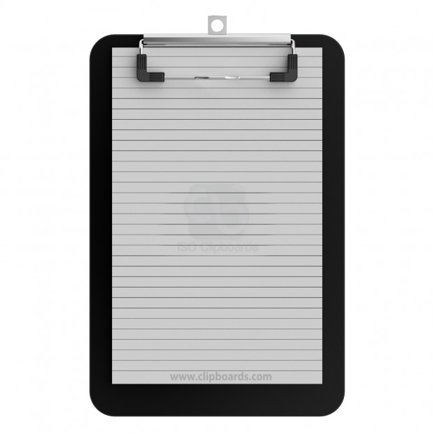 Memo Size 5 x 8 Plastic Clipboard | Black Slightly Damaged