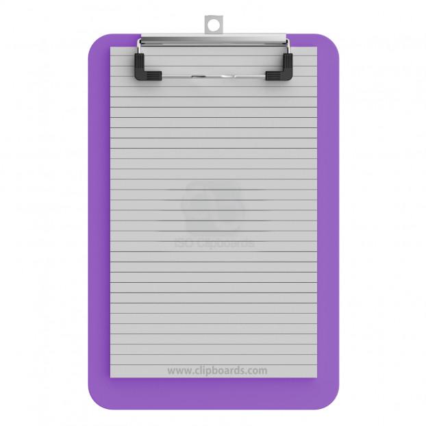 Memo Size 5 x 8 Plastic Clipboard | Lilac