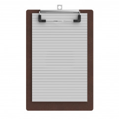 Red Mahogany Memo Size 5 x 8 MDF Clipboard