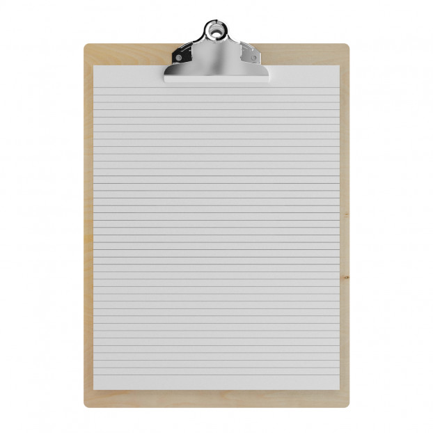 "Birch Letter Sized 8.5"" x 11"" Butterfly Clipboard"
