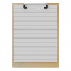 "Birch Letter Sized 8.5"" x 11"" Clipboard"