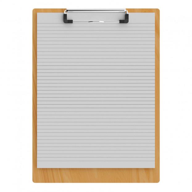 "Maple Letter Sized 8.5"" x 11"" Clipboard"