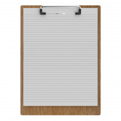 "Red Oak Letter Sized 8.5"" x 11"" Clipboard"