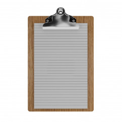"Red Oak Memo Sized 5"" x 8"" Butterfly Clipboard"