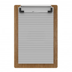 "Red Oak Memo Sized 5"" x 8"" Clipboard"