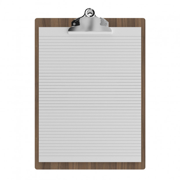 """Walnut Letter Sized 8.5"""" x 11"""" Butterfly Clipboard"""