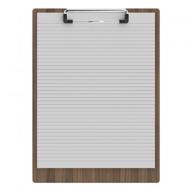 """Walnut Letter Sized 8.5"""" x 11"""" Clipboard"""