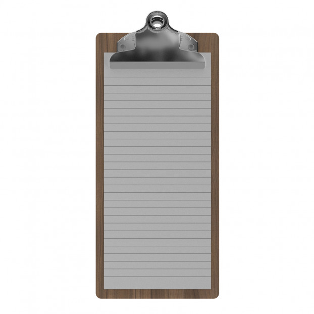 Walnut Server Butterfly Clipboard