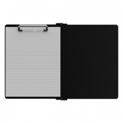 Left Folding Ledger ISO Clipboard | Black
