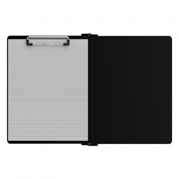 Left Folding Ledger ISO Clipboard | Black