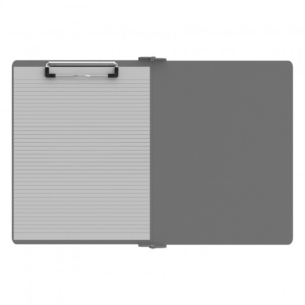 Left Folding Ledger ISO Clipboard | Silver