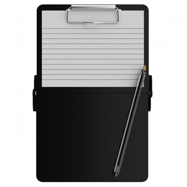 Black Mini ISO Clipboard
