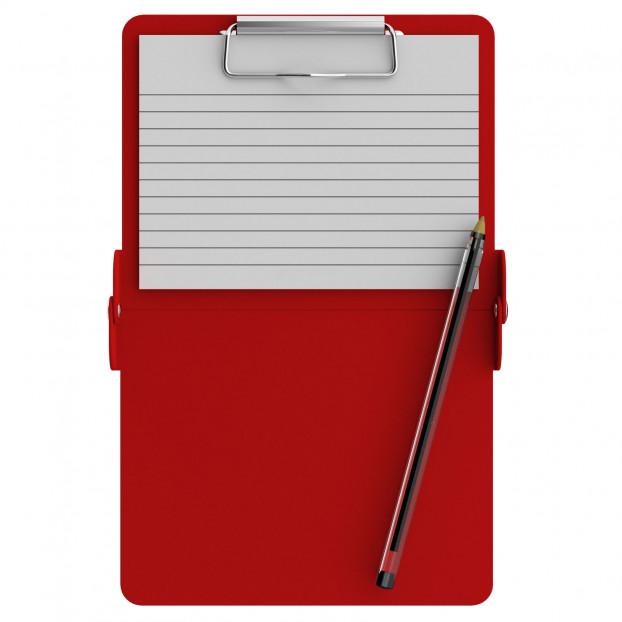 Red Mini ISO Clipboard