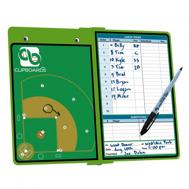 Lime Green Baseball ISO Clipboard