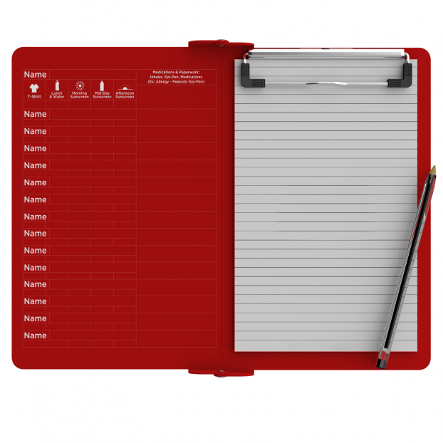Camp ISO Clipboard | Red