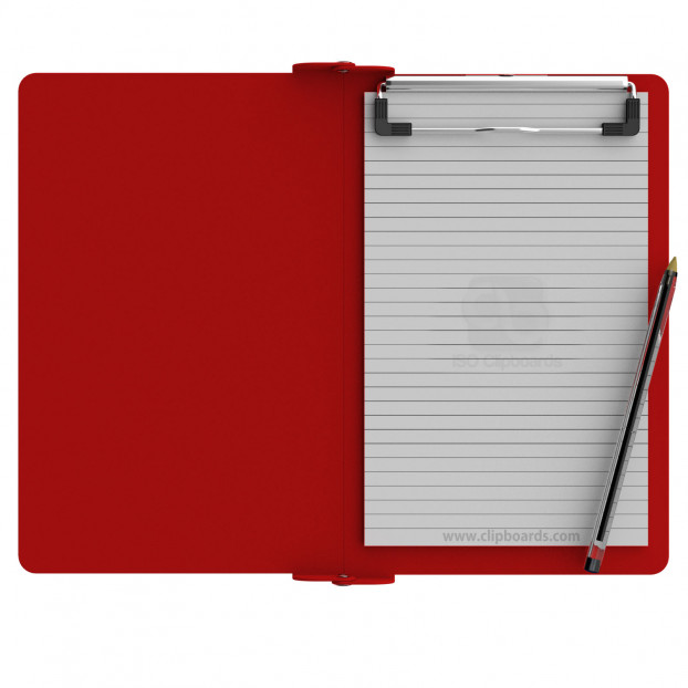 Folding Memo ISO Clipboard | Red